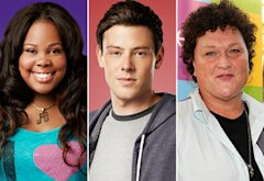 Amber Riley, Cory Monteith, Dot Marie Jones | Photo Credits: Tommy Garcia/FOX (2); Frank Micelotta/PictureGroup