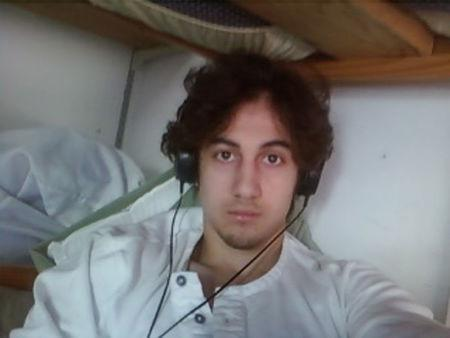 Dzhokhar Tsarnaev is pictured in this handout photo presented as evidence by the U.S. Attorney's Office in Boston
