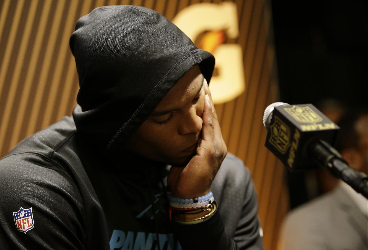 Newton, Panthers vow to get back to Super Bowl after loss