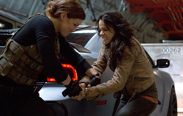 Gina Carano and Michelle Rodriguez in 'Fast &amp; Furious 6'