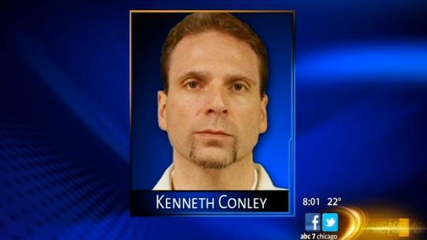 Kenneth Conley, escaped inmate, appears in court after being captured in Palos Hills