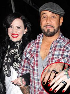 Backstreet Boy A.J. McLean, New Wife Show Off Wedding Rings