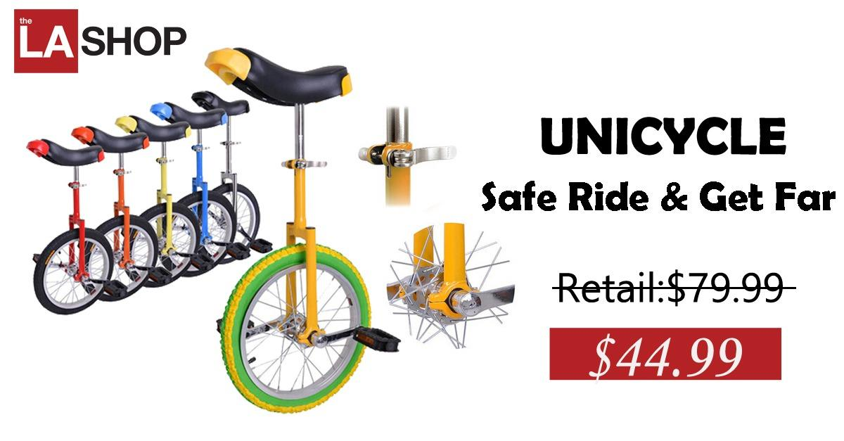 """Limited Time Offer:16"""" Wheel Unicycle Only $44.99!"""