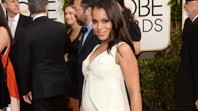 Pregnant Kerry Washington Debuts Her Baby Bump (ABC News)