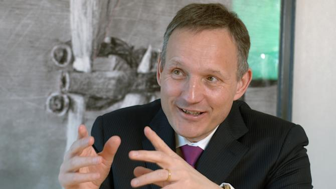 This undated image made available by Barclays PLC shows Antony Jenkins, 51, named Thursday Aug. 30, 2012  as new chief executive of Barclays PLC as shares in the group dropped following news of an investigation into an overseas investment deal. The bank announced that Antony Jenkins, would fill the post vacated by the resignation of Bob Diamond in the wake of a scandal over attempts to manipulate a key interest rate index. Jenkins takes over just as the bank has been hit by more bad news. Barclays disclosed Wednesday that Britain's Serious Fraud Office was looking into the bank's payments to Qatar Holdings LLC when Barclays raised more than 5 billion pounds ($8 billion) of emergency capital at the height of the global financial crisis, funds which saved Barclays from needing a government bailout.  (AP Photo/Newscast for Barclays, HO)