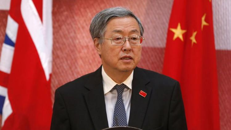 People's Bank of China Governor Zhou Xiaochuan addresses delegates at the UK-China Financial Forum at Lancaster House, in London