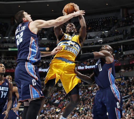 Nuggets send Bobcats to 15th straight loss