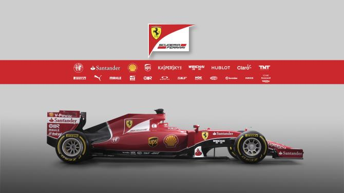 Undated handout image of the new Ferrari F1 SF15-T