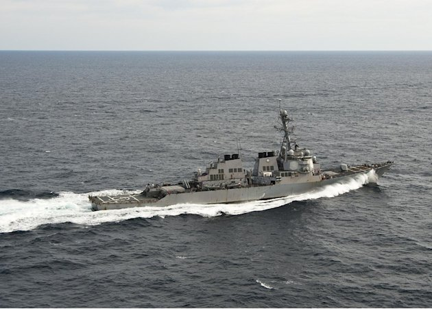 In this image provided by the U.S. Navy the Arleigh Burke-class guided-missile destroyer USS Porter (DDG 78) transits the Atlantic Ocean. The U.S. Navy said Sunday Aug. 12, 2012 that the USS Porter co