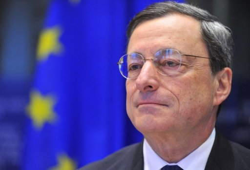 European Central Bank president Mario Draghi arrives on December 17, 2012 at the EU Headquarters in Brussels.