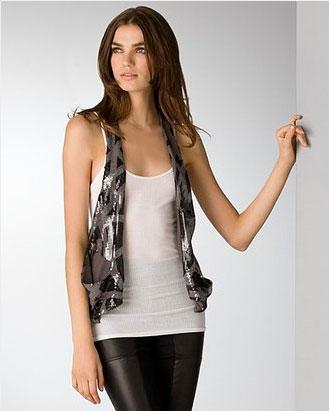 Rozae by Rozae Nichols Abstract Sequined Vest - $294.00