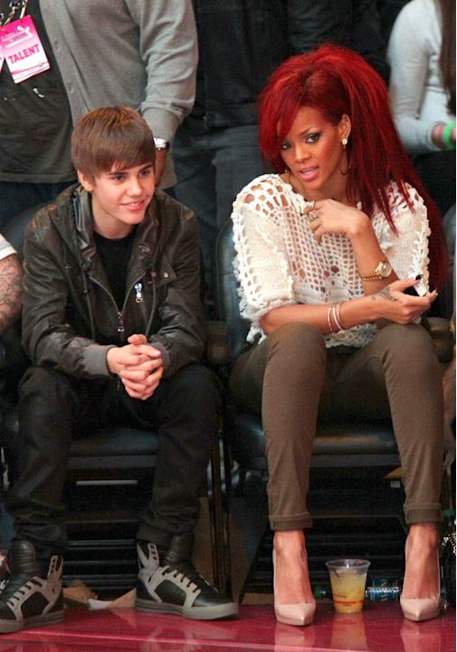 Bieber Rihanna NBA All Star Game