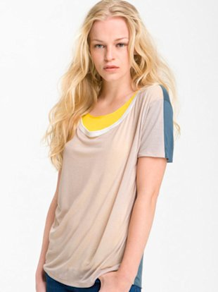 Convertible Colorblock Tee