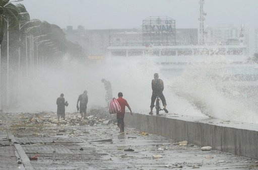 Nearly 13,000 people were evacuated from Manila