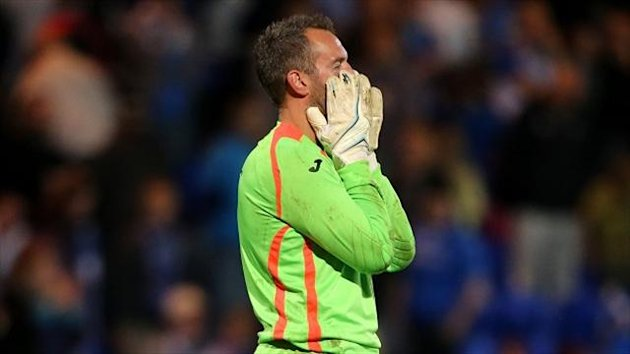 Alan Mannus was injured during St Johnstone's draw with Kilmarnock