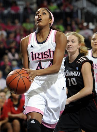 McBride leads No. 2 Irish to 64-42 win over Cincy