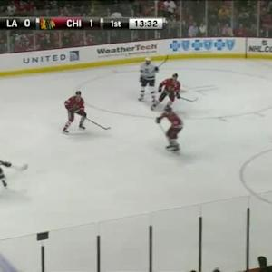 Scott Darling Save on Andrej Sekera (06:32/1st)