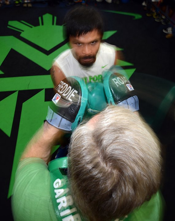 Manny Pacquiao Spars Getty Images