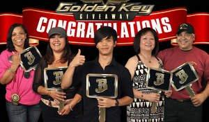 Barona Awards Golden Keys for Brand New Cars to Five Players in the Golden Key Grand Finale