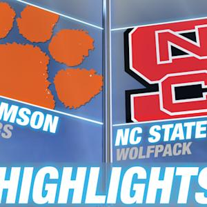 Clemson vs NC State | 2014-15 ACC Men's Basketball Highlights