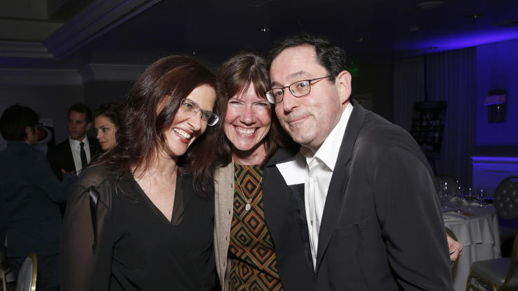 Philippa Kowarsky and Participant's Diane Weyermann and Sony Pictures Classics' Michael Barker attend the Sony Pictures Classics Pre-Oscar Dinner at The London Hotel on February 23, 2013 in West Hollywood, California. (Photo by Todd Williamson/Invision for Sony Pictures Classics/AP)