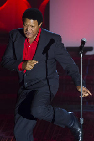 Chubby Checker performs at the Songwriters Hall of Fame Awards on Thursday, June 12, 2014, in New York. (Photo by Charles Sykes/Invision/AP)