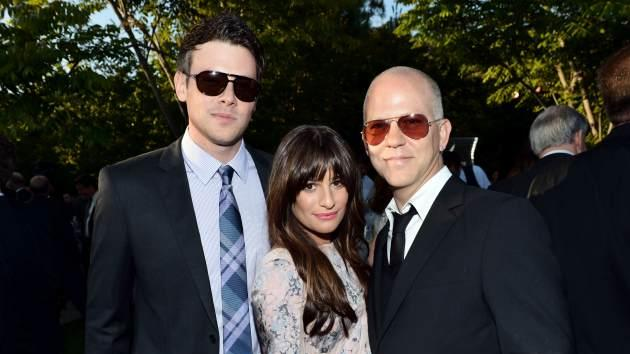 Cory Monteith, Lea Michele and Ryan Murphy -- Getty Images