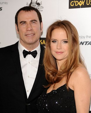 John Travolta y su esposa Kelly Preston /WireImage