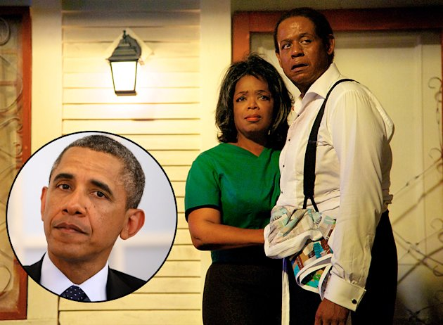 President Barack Obama, Oprah Winfrey in The Butler