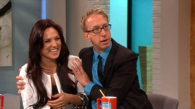 Andy Dick and pro partner Sharna Burgess seen on Access Hollywood Live on March 1, 2013  -- Access Hollywood