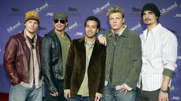 The Backstreet Boys attend the 2003 Billboard Music Awards at the MGM Grand Garden Arena in Las Vegas on December 10, 2003 -- Getty Images
