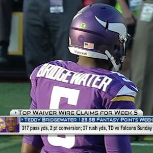 'NFL Fantasy Live': Week 5 Waiver Wire Targets