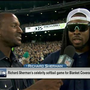Seattle Seahawks cornerback Richard Sherman's celebrity softball game a home run