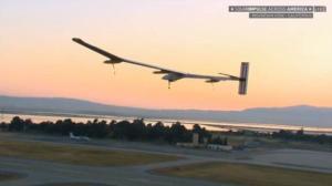 Solar Plane Takes Off on Last Leg of Historic Cross-Country Flight