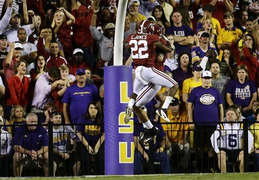 Yeldon TD leads No. 1 Alabama past LSU 21-17