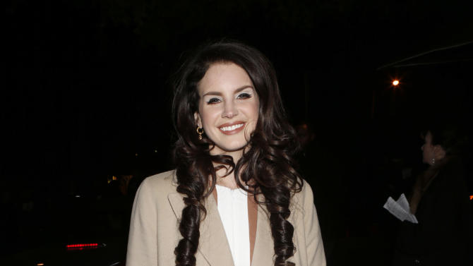 IMAGE DISTRIBUTED FOR CADILLAC - Lana Del Rey attends the W Magazine's Best Performances and Golden Globe Awards Party Presented by Cadillac, on Friday, January, 11, 2013 in Los Angeles. (Photo by Todd Williamson/Invision for Cadillac/AP Images)