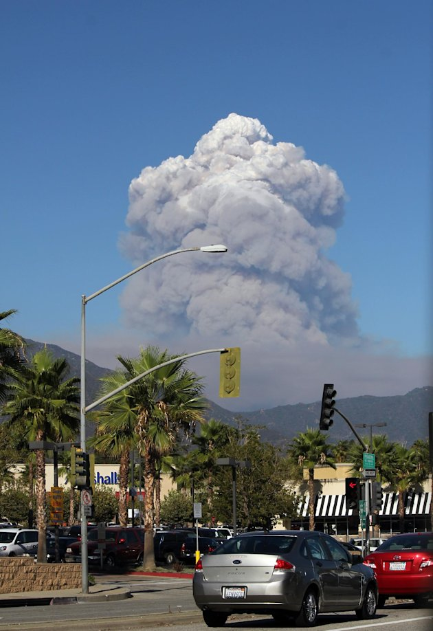 Wildfire Prompts Evacuations In Southern CA Forest