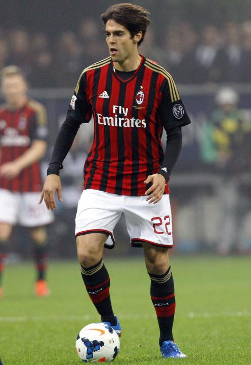 AC Milan's Kaka controls the ball during their Italian Serie A soccer match against Udinese in Milan