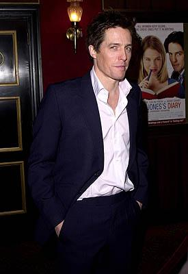 Hugh Grant at the New York premiere of Miramax's Bridget Jones's Diary