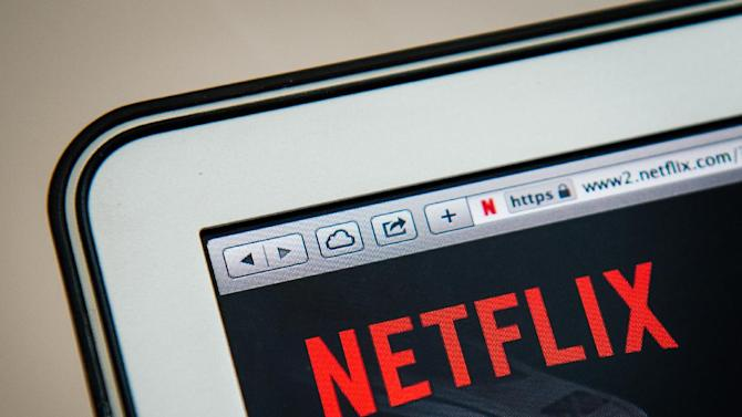The on-demand internet streaming media provider, Netflix, on a laptop screen in Stockholm on September 11, 2014