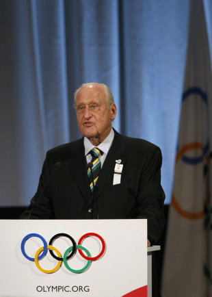 Brazilian former Olympic athlete and a member of the International Olympic Committee Joao Havelange (REUTERS)