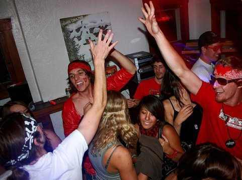 College party, drunk, students, frat