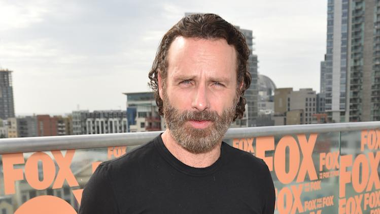 "Andrew Lincoln attends AMC's ""The Walking Dead"" breakfast on Day 2 of Comic-Con International on Friday, July 25, 2014, in San Diego. (Photo by John Shearer/Invision for AMC/AP Images)"