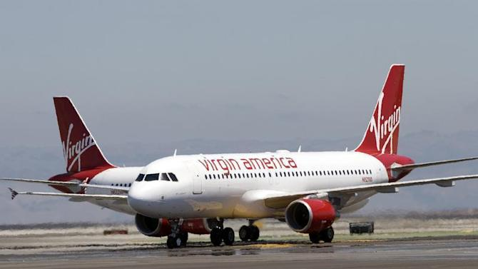 The first Virgin America flights land in San Francisco