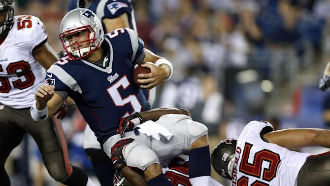 Brady's knee is OK, his arm is nearly perfect