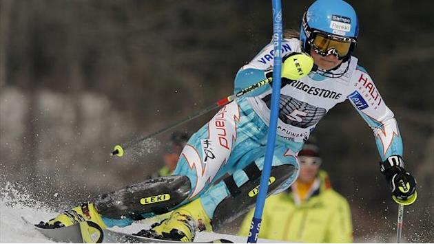 Alpine Skiing - Schild's record bid over as Poutiainen leads first Levi slalom run