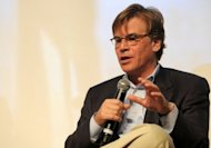 "Sony Pictures Entertainment on Wednesday said that Aaron Sorkin, the Academy Award winning screenwriter behind ""The Social Network"", pictured here in February 2012, will write the script for a film about Apple co-founder Steve Jobs"