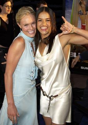 Kate Bosworth and Michelle Rodriguez at the LA premiere of Universal's Blue Crush