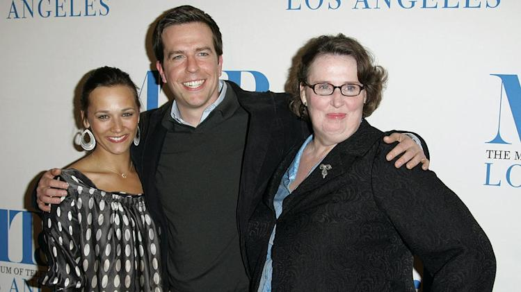 "Rashida Jones, Ed Helms and Phyllis Smith at The 24th Annual William S. Paley Television Festival - An Evening with ""The Office."""