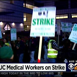 Workers Strike At UC Hospitals, Campuses Over Safe Staffing Issues